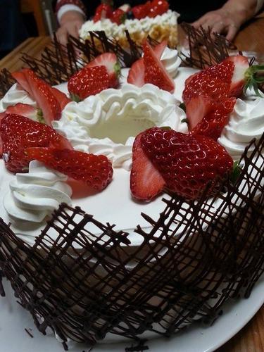 誕生日シフォンケーキ