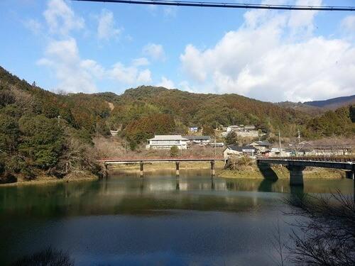 平山の風景 ダム湖