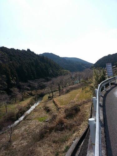平山の風景 平山まであと少し 春になる桜が咲く