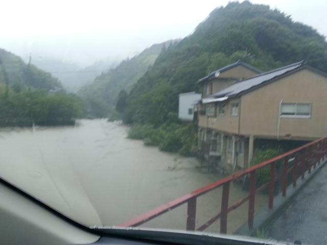 平山のダムも豪雨で様変わり