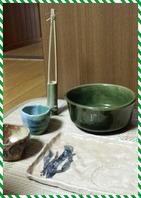 陶芸・竹の一輪挿し