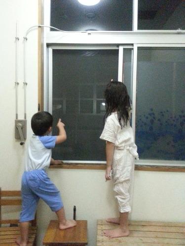 中秋の名月に子どもたちも大興奮