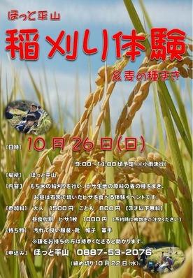 稲刈り&麦の種まき