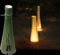 竹でつくったランプシェード