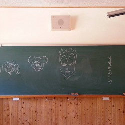 黒板に残されたお客さまのメッセージ